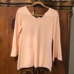 NWOT H by Halston Baby Pink Sweater